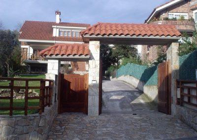 Marquesina de entreda a parcela de vivienda unifamiliar