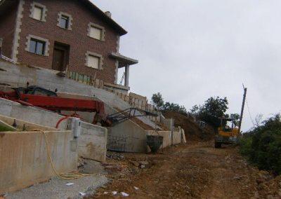 Replanteo de 5 viviendas unifamiliares