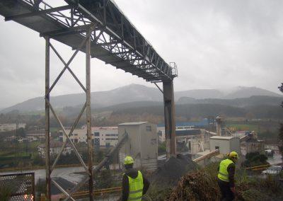Proyecto de Verificación y refuerzo estructural de cinta transportadora de áridos en la cantera de Nafarrondo